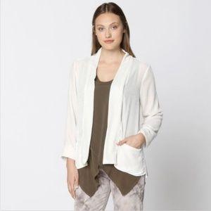 NEW XCVI White Silk Velvet Nova Jacket Size L $184